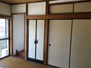 施行前の和室空間