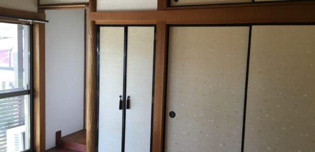 施行前の使われていない和室空間